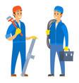 workers in team people wearing uniforms vector image