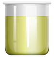 Yellow liquid in glass beaker vector image vector image