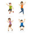young teenage happy and jump vector image