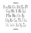 Latin alphabet vector image