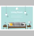 Modern living room Interior background 1 vector image