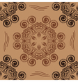 pattern in form of hexagons and swirling circles vector image