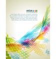 Abstract mosaic wave