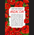 Anzac day poppy lest we forget poster
