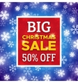 Big Christmas Sale promo banner template vector image vector image