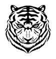 black tiger sign vector image