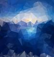 blue sky sea polygonal triangular pattern vector image vector image