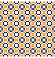 Blue yellow and white simple mosaic tiles seamless vector image vector image