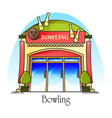 bowling club or house facade or front view vector image vector image