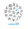 chemistry lab round design template contour lines vector image