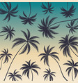 coconut palm trees on colorful background vector image