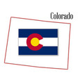 colorado state map and flag vector image vector image