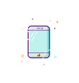 concept of mobile phone icon thin line flat vector image vector image