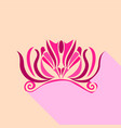 crown design icon flat style vector image