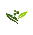 digital ecology logo design template vector image vector image