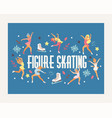 figure skating backdrop girl character vector image vector image
