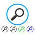 find rounded icon vector image vector image