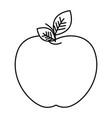 fresh apple fruit icon vector image vector image