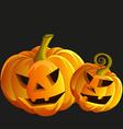 Funny Halloween pumpkins vector image vector image