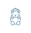 funny little animal line icon concept funny vector image vector image