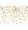 golden confetti isolated on white background vector image vector image
