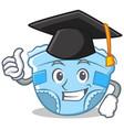 graduation baby diaper character cartoon vector image vector image