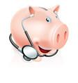 happy healthy piggy bank vector image vector image