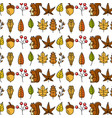 hello autumn decoration seamless pattern design vector image