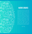 human internal organs concept with thin line icons vector image vector image