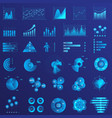 infographics flat neon light set vector image