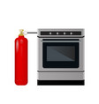 kitchen stove with a red balloon vector image
