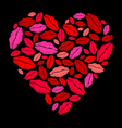 Lipstick heart vector image vector image