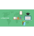 literature concept and online learning vector image
