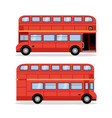 london double decker red bus cartoon vector image
