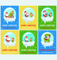 merry christmas new year vector image vector image