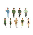 military uniforms set military army officer vector image vector image