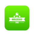 molecule physics icon green vector image vector image
