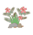 nature outdoor leaves environment cartoon vector image vector image