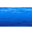 ocean underwater background vector image vector image