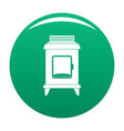old oven icon green vector image vector image