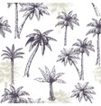 palm tree seamless pattern beautiful island vector image vector image