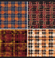 scottish tartan plaid fabric collection vector image