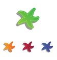 Sea star sign Colorfull applique icons set vector image vector image