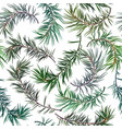 seamless background with fir tree vector image