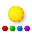set color umbrellas top view open parasol vector image