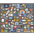 set flat design icons for internet banking vector image vector image