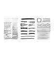 set grungy graphite pencil art brushes pencil vector image vector image