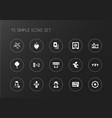 set of 15 editable casino icons includes symbols vector image vector image