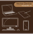 set of digital devices vector image