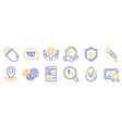 set science icons such as chemistry pipette vector image vector image